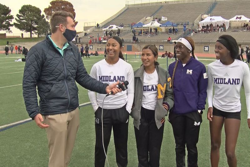 Area champion 4x100m girls relay team from Midland High