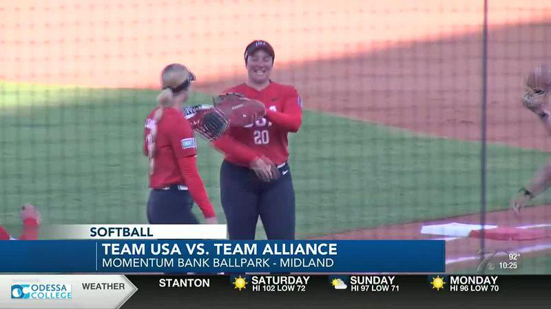 Team USA softball survives upset with walk-off win