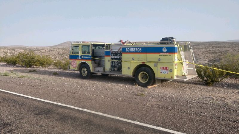 Ojinaga fire truck broke down a few miles away from Presidio.