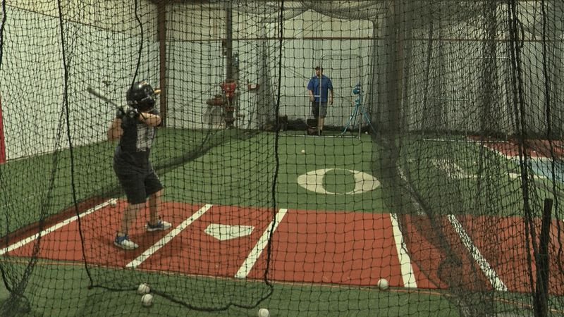 The indoor facility gives young athletes a large space to train and have fun.