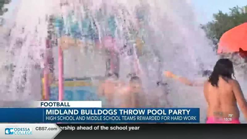 Midland High football pool party