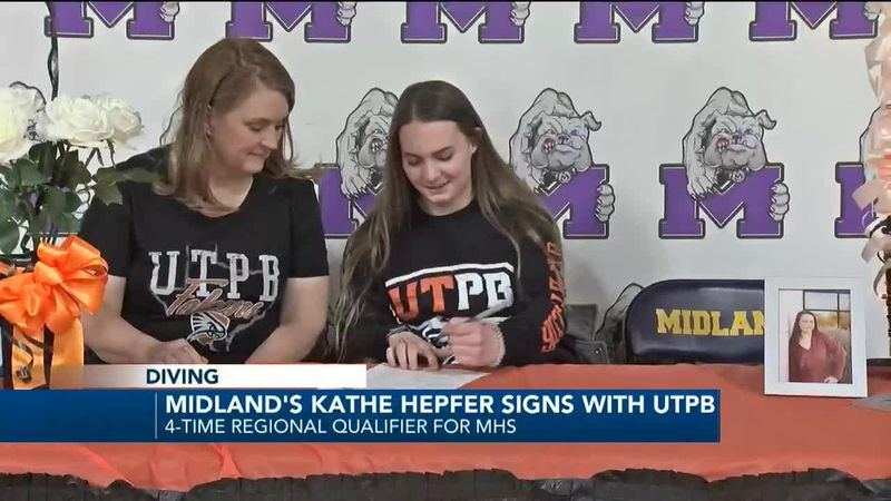 Midland High School's Kathe Hepfer signing with UT Permian Basin