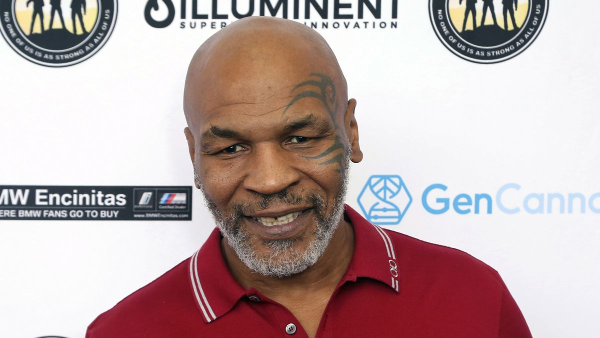 FILE - In this Aug. 2, 2019 file photo, Mike Tyson attends a celebrity golf tournament in Dana...