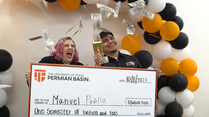 Manuel Padilla was awarded a free semester of college on Friday.