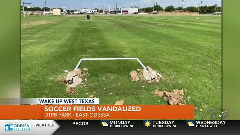 City says no authorization given to remove items from UTPB fields