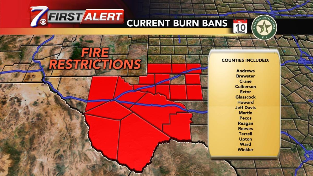 Midland County lifts burn ban.