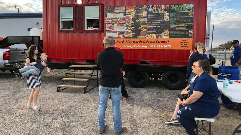 The food truck is helping refill the nonprofit's shelves after the winter storm froze Jesus...