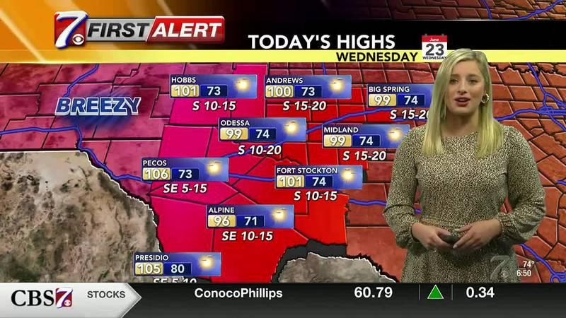 West Texas Weather Forecast 6/23