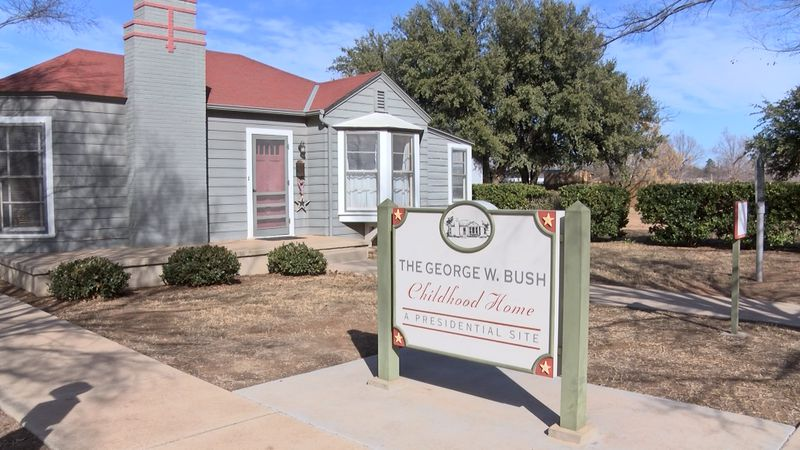 The George W. Bush childhood home is a popular local fixture in Midland, but it may soon be...