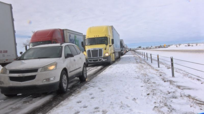 Hundreds of unlucky travelers spent the night in 14 hours of standstill traffic.