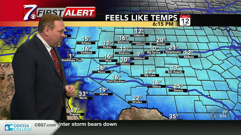 West Texas Winter Weather Forecast 2/12