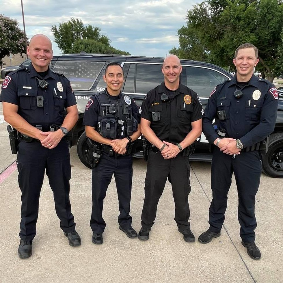 Mansfield Police identified Officer Killian, Officer Hernandez, Sergeant Raines, and Officer...