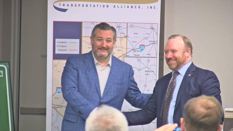 U.S. Senator Ted Cruz talks in Midland about the new I-14 amendment