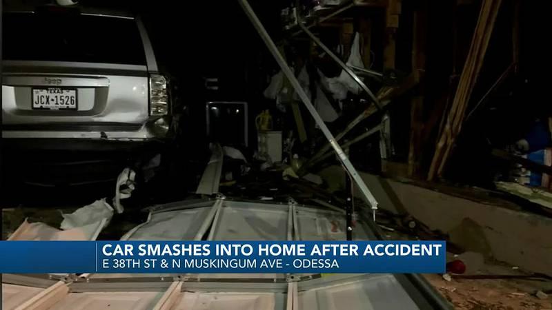Accident sends car crashing into Odessa home