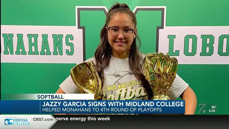 Monahans softball star Jazzy Garcia signs with Midland College