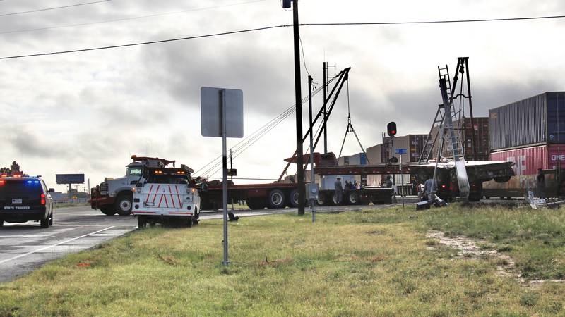 A train-semi accident early Tuesday morning in Eastern Odessa