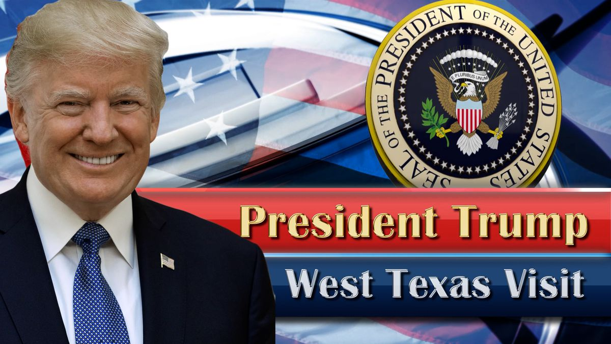President Donald Trump will be in West Texas on Wednesday for a fundraiser and a visit to a local oil rig.