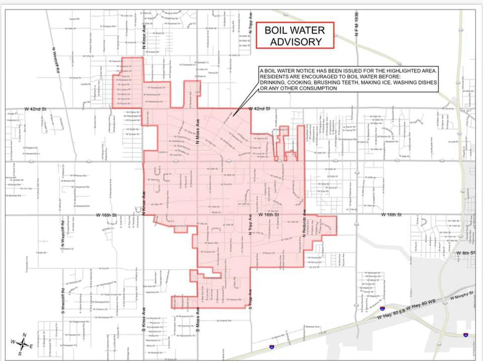 Boil Water Notice Area 2/21/2021