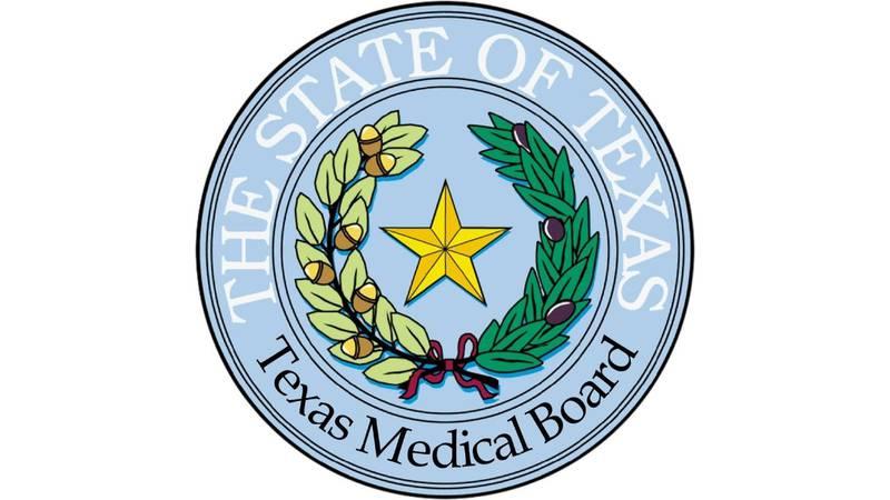The Texas Medical Board logo.