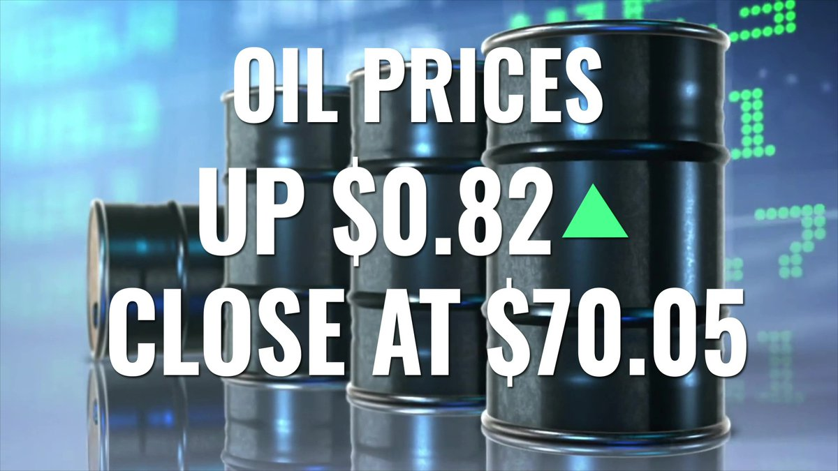 The price of crude oil rose above $70 on Tuesday.