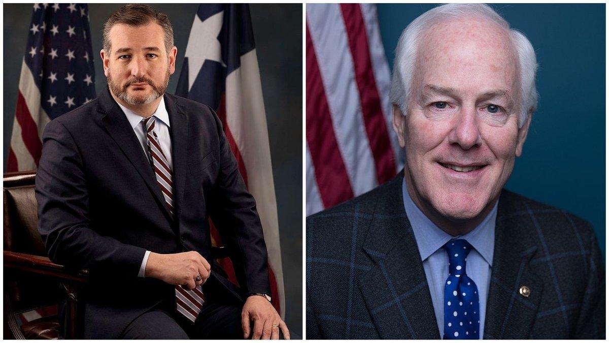U.S. Senators Ted Cruz and John Cornyn of Texas.