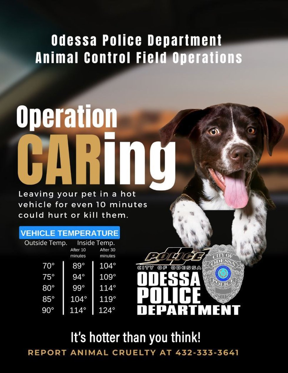 Odessa police are reminding the public to keep pets safe this summer.