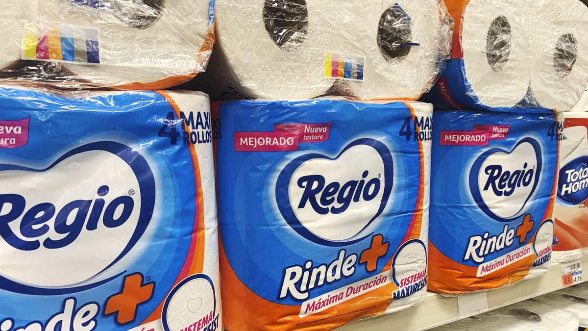 This Sept. 4, 2020 photo shows Regio, a Mexican toilet paper brand, on the shelf at a CVS in New York. Demand for toilet paper has been so high during the pandemic that in order to keep their shelves stocked, retailers across the country are buying up foreign toilet paper brands, mostly from Mexico.