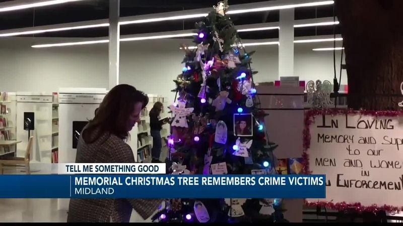 Memorial Angel Tree on display in Midland