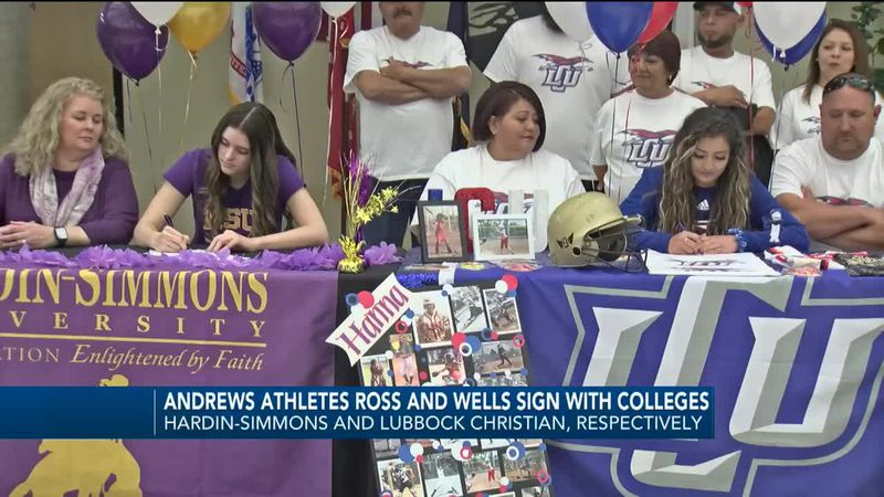 Mikayla Ross signing with Hardin-Simmons and Hanna Wells signing with Lubbock Christian
