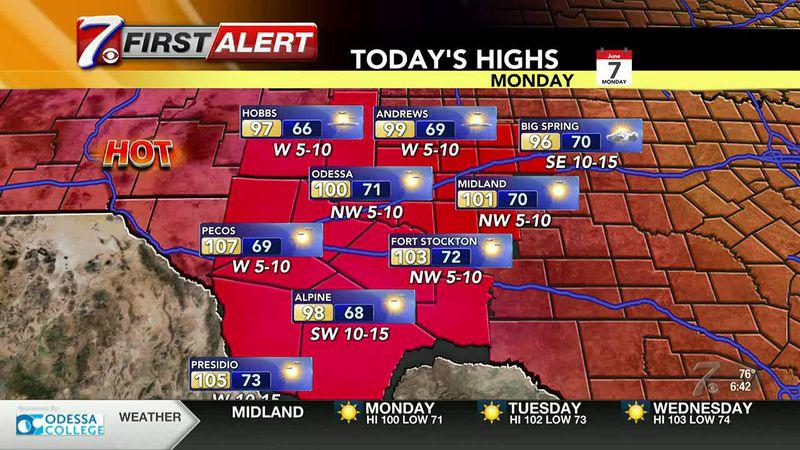 West Texas Weather Forecast 6/7