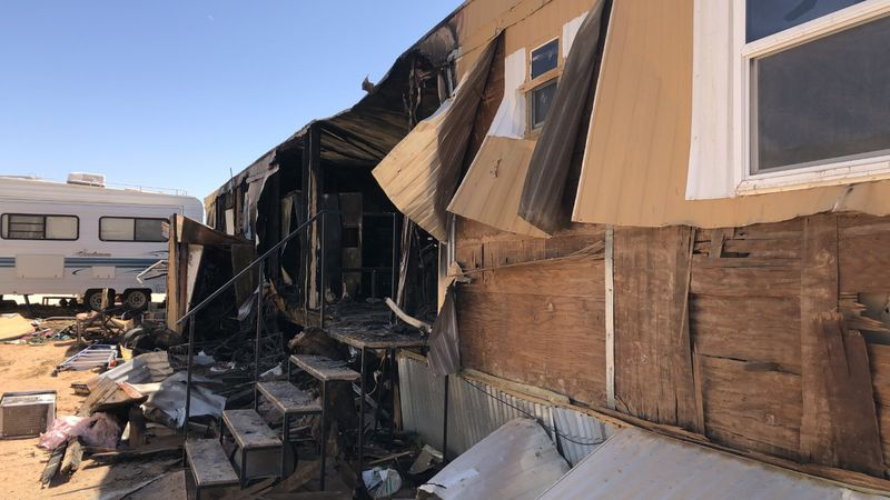 The Arenas family's home was destroyed in a fire on Tuesday night.