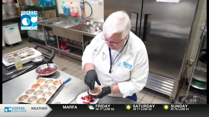 Odessa College Chef Victor Bagan shows us how make Phyllo Cups with Fruit.