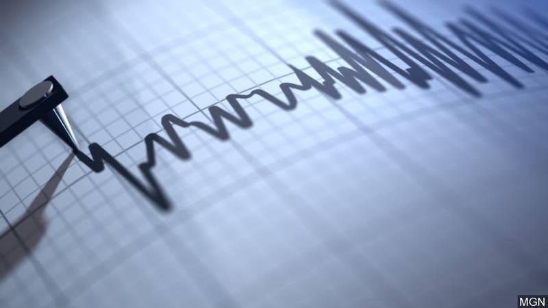Earthquake seismograph.