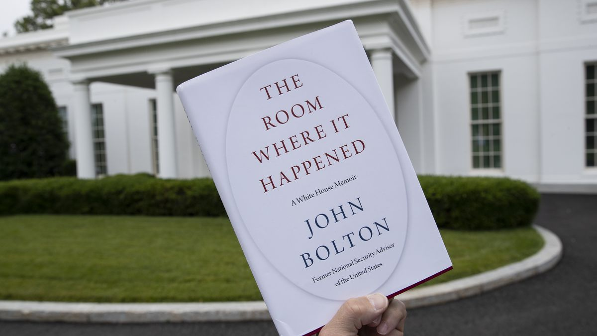 "A copy of ""The Room Where It Happened,"" by former national security adviser John Bolton, is photographed at the White House, Thursday, June 18, 2020, in Washington."