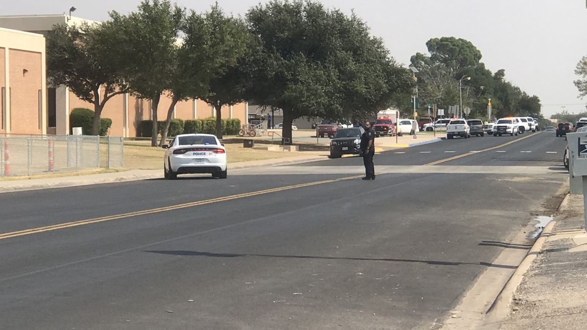 A large police presence has been reported at Goddard Junior High Wednesday afternoon.
