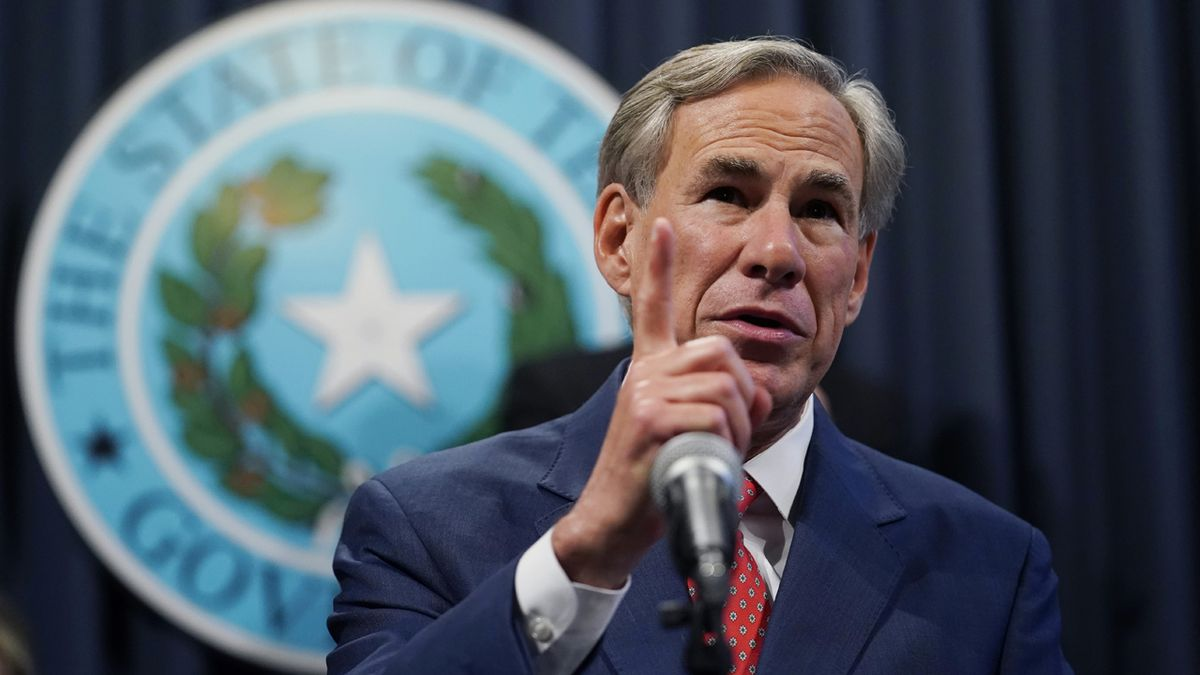 Texas Gov. Greg Abbott speaks during a news conference where he provided an update to Texas'...