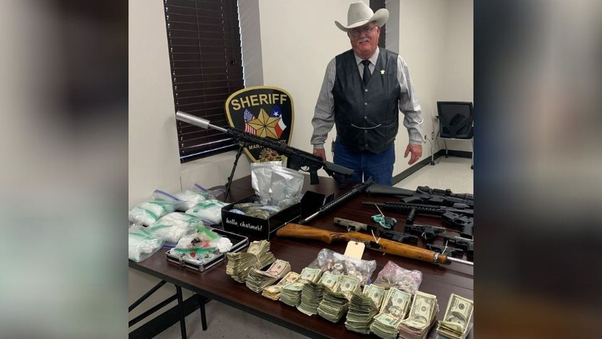 A search warrant led to one arrest and the seizure of drugs, guns and a motorcycle on Monday.