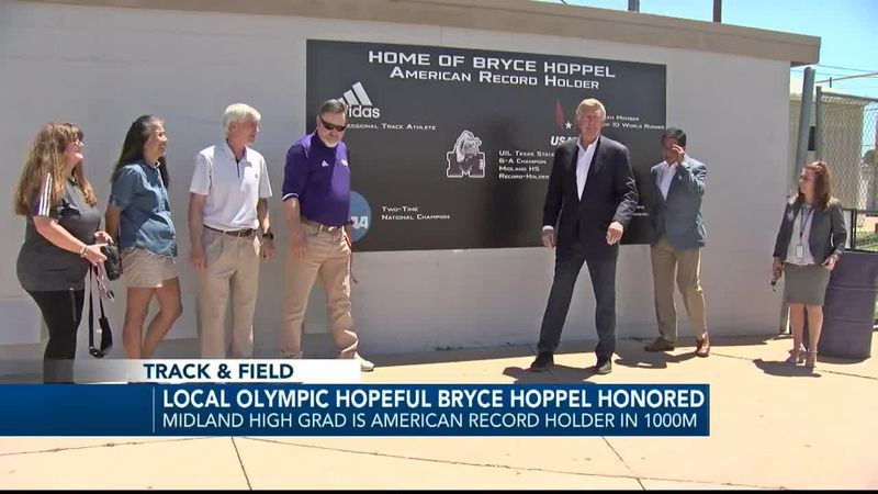Midland ISD honors alum and Olympic hopeful Bryce Hoppel