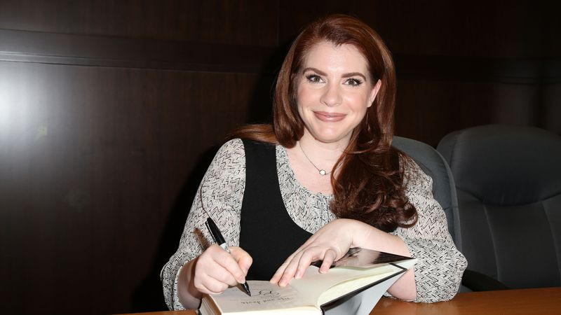 """Stephenie Meyer signs copies of her book """"Life and Death"""" at Barnes & Noble in Los Angeles,..."""