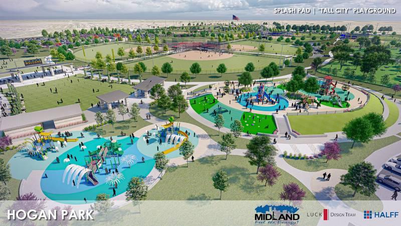 A concept of the renovations for Hogan Park.