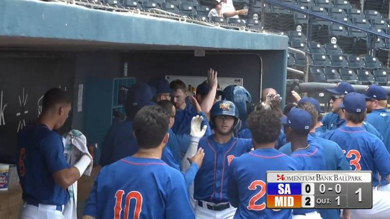 Midland RockHounds beat the San Antonio Missions in the final game of the series on Sunday...
