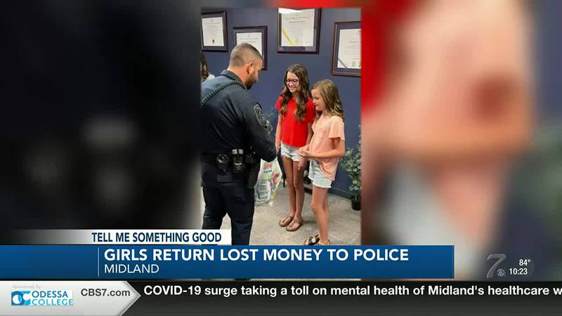 Midland girls recognized for returning lost money to police