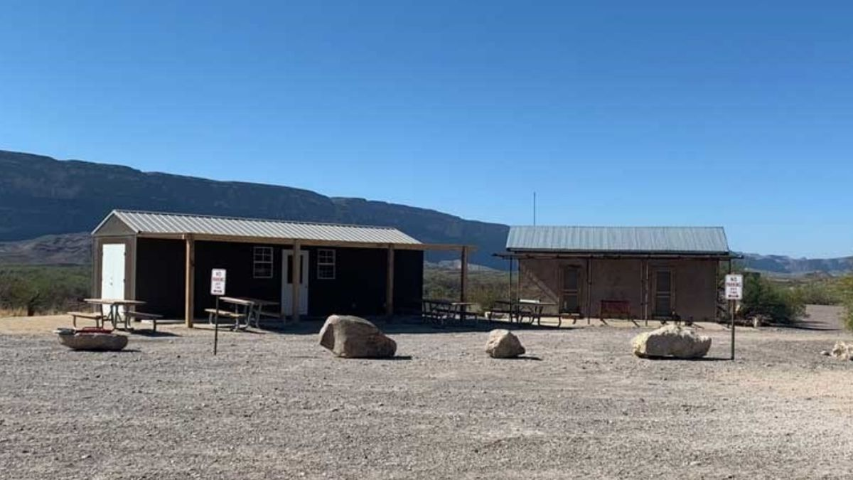 The temporary Castolon store is adjacent to the historic Magdalena House. (Photo: Big Bend National Park)