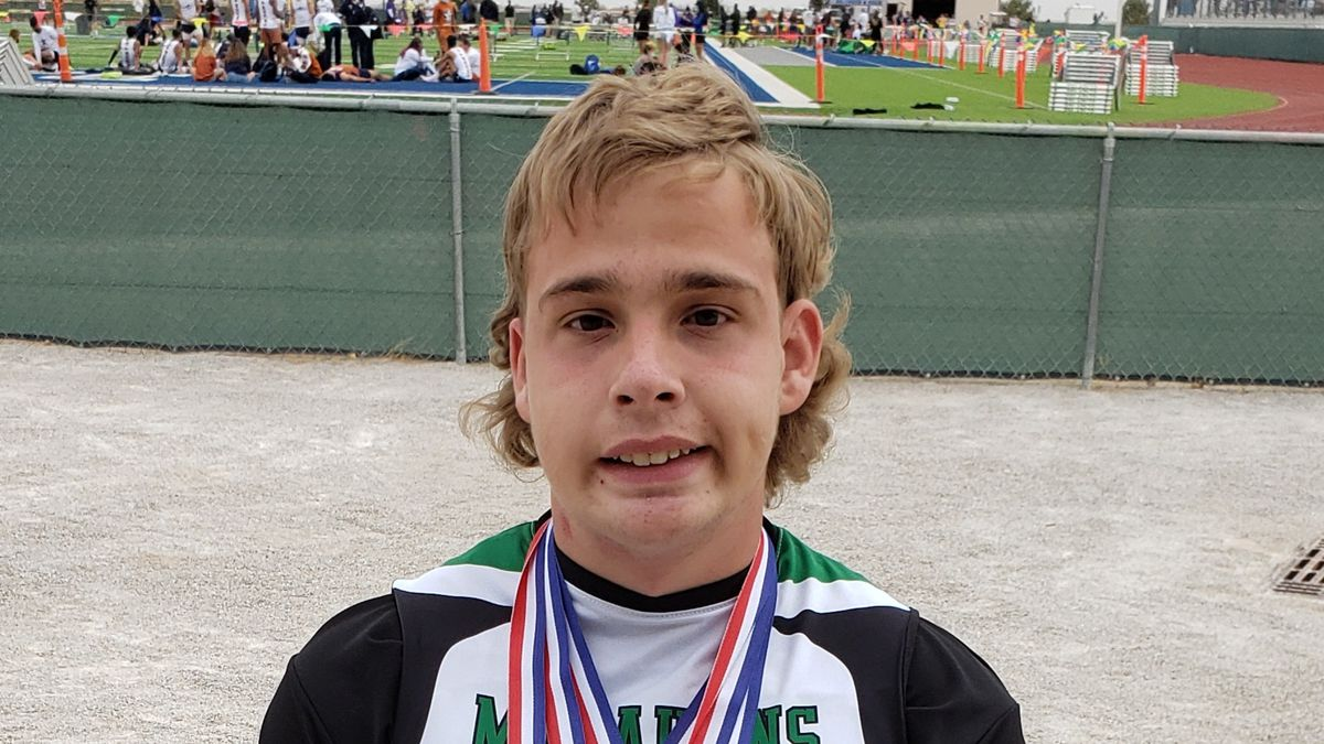 Carter won gold in the 100M, 400 M, and shot put