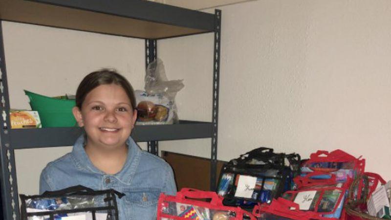Monahans girl helps homeless community