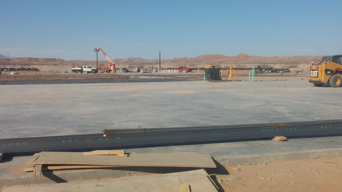 Construction has already begun on the Biad Chili Plant in Presidio. (Photo courtesy of Presidio...