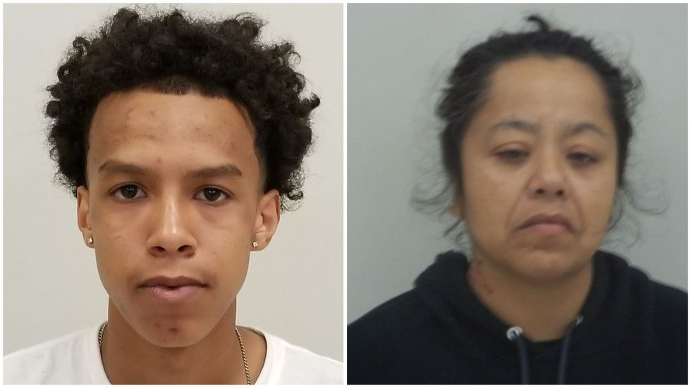 Marcus Pena, 17, and Rebecca Rivas Chavera, 41, have both been charged with murder.