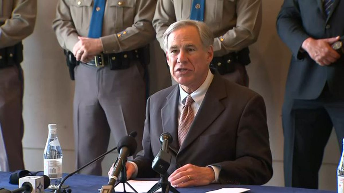 Gov. Greg Abbott speaks on the immigration crisis during a press conference in Dallas on...
