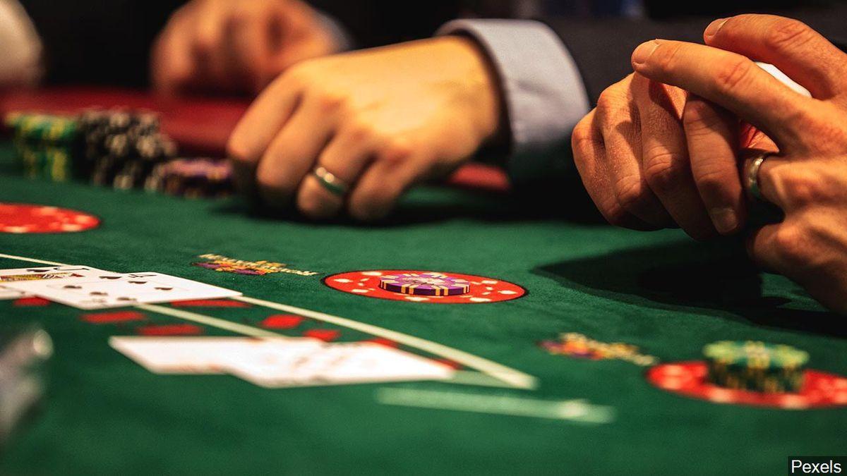People playing poker.