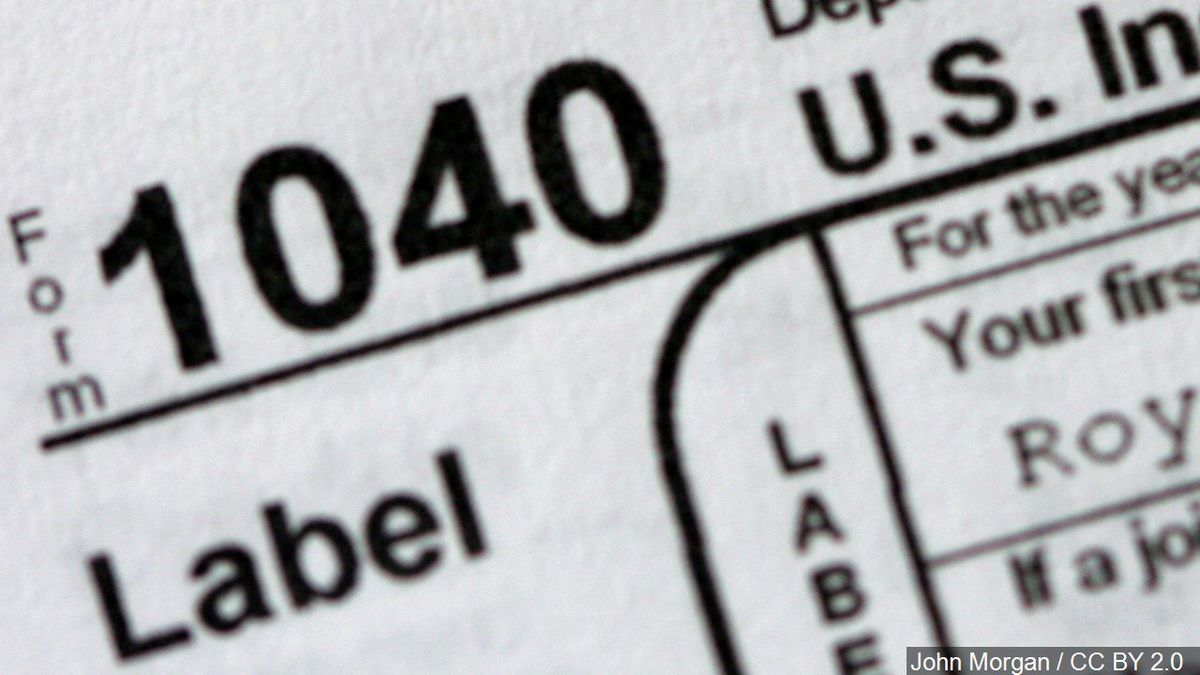 1040 Tax filing form.